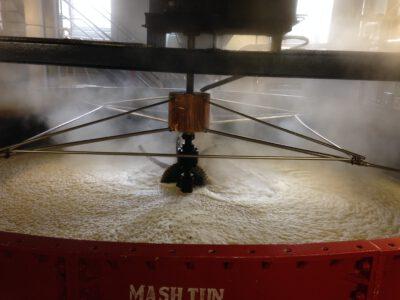 Eine Mash Tun zur Whisky-Herstellung.